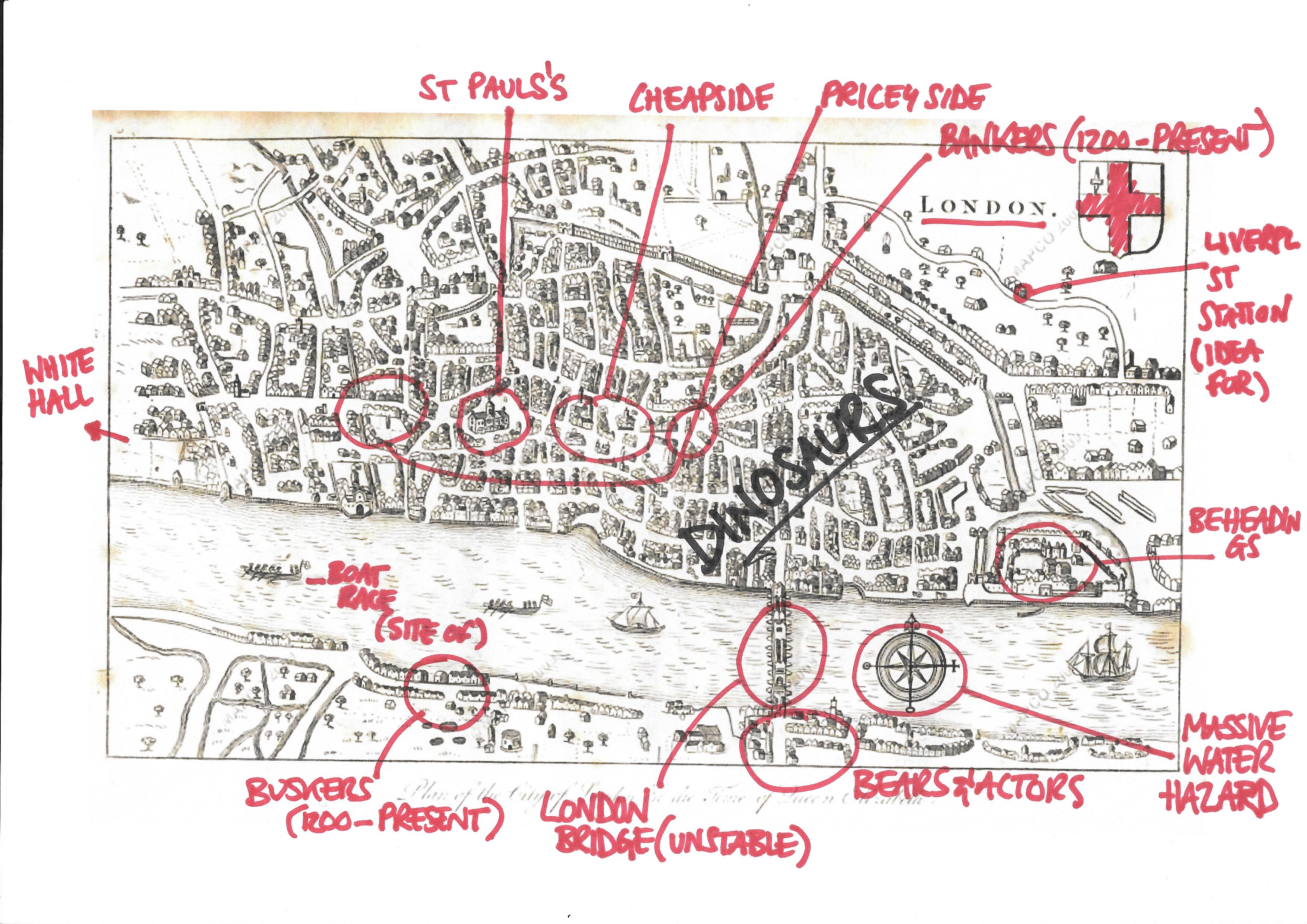 A map of London from the time of the Elizabethans who are not covered here for obvious reasons.